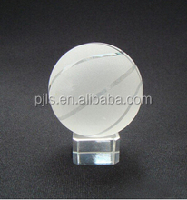 Factory direct sale crystal ball basketball model