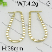 Practical and nice gold stainless steel earring wholesale