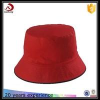 cheap custom red terry towel fabric bucket hat pattern