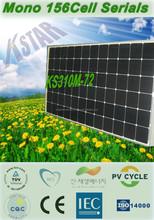 China good price mono 310w solar panel 36V with CE TUV certificate/Kingstar solar panel making machine/import solar panels