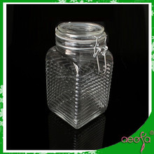 square food storage glass jars container