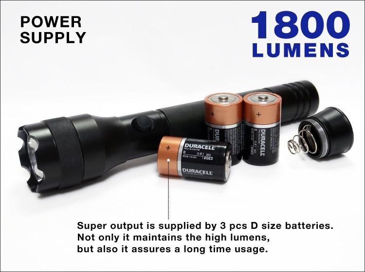 STARLITE 1800 люмен алюминиевый светодиодный фонарик высокая яркость лучший самообороны фонарик