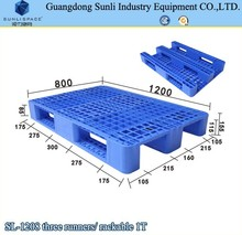 China 1T Rack Three Runners Euro Type Storage HDPE Plastic Pallet