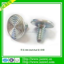 Special threaded flat head screw