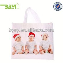 Recycled laminated tote bag 100gsm pp woven material