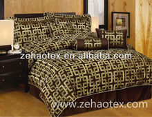 luxury king grey and golden colored bedroom adult being satin fabric printed comforter