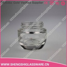 20g clear glass face cream jar with cap