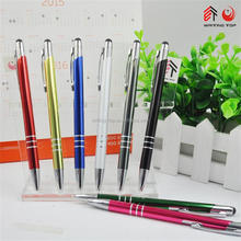 office stationery products customized pen with stylus logo