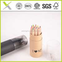 2015 New arrival personalized black wood small color pencil for kids