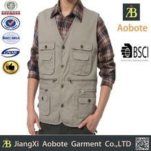 2015 Wholesale Portable Spring Man's Multi Pocket Vest