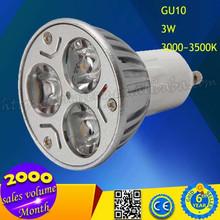 2015 nuevo producto de ahorro de energía caliente blanco 3 W LED GU10 bombilla