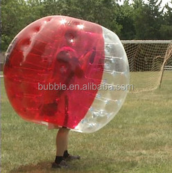loopy bubbles, air balls, bubble soccer inflatables, clear 1.0mm thick PVC bumper ball for sale