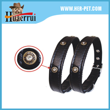 classic black powerful nylon collar coated with pu or leather