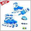 2015 professional fashion adjustable inline skate with helmet and pad