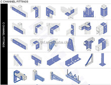 Different kind of unistrut steel channel accessories