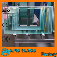 Tempered glass panel with different shape