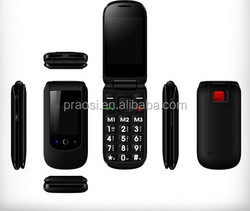 cheap senior elder Elderly flip mobile phone with sos button for old people