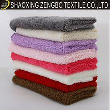 Hot sale China shaoxing cheap Shu Velveteen,berber fleece ,sherpa for home textile and garment