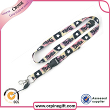 Fast delivery no minimum order cheap single custom sublimation lanyard for sale