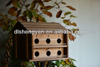Large standing wooden decorative bird cage layer bird house