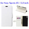 online shopping promotion mobile phone flip leather case for Sony Xperia Z5
