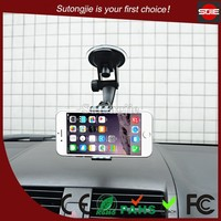 Universal 360 degree rotation durable clip smart phone accessories mount,car suction cup holder kit mount