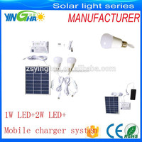 solar camping dc fan light system with DC12V Fan and 2W LED Light