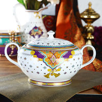 3.5L Luxury Fine Hyper White Porcelain Tureen of Summer of Persia
