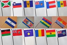 Very cheap PE hand held flag, hand waving flag polyester hand waving flag
