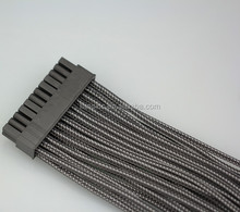 24 pin to 24 pin ribbon sleeved atx power supply extension cable
