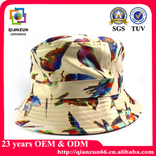 Printed round cotton fisher kids man beannie cap