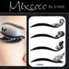 trendy charming rock eyeshadow tattoo/crystal eye tattoo sticker