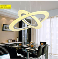 Best Sale Modern simplestyle fashion creative indoor lamp and lanters led acrylic circular pendant lihgt chandelier