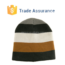 Custom Mens Knit Hat Snowboard Stripes Beanie Skull Cap Winter Ski Beanie Cap