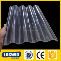 Anti-corrosion industrial tile effect roofing sheets / fiberglass sheet / FRP corrugated