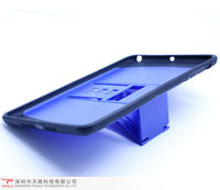 Top quality hotsale silicone&PC phone case with supporting for Ipad mini