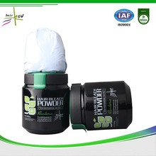 Dust free organic bleaching poweder for hair dye