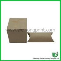 Lovely brown kraft pillow case gift box packaging