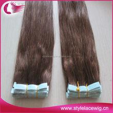 Brazilian hair hand tied tape weft , hand made skin weft 100g/40piece