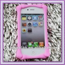 2012 colorful bone frame silicone cell phone case & cover for 4S & 4GS