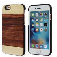 Real Wood Phone Case For Iphone 6/6s , Wooden Plastic Hard Back Cover For Iphone , New Arrival Wooden Cell Phone Case