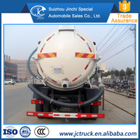 Durable 12MT sludge transportation truck destribution