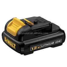 Replace Dewalt power tool battery, Dewalt 12V Li-ion 2.0Ah batteries