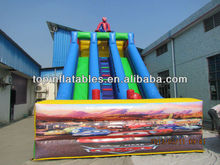 double lane spiderman inflatable slides