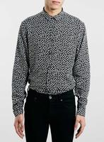 2015 Monochrome Crocodile print Long Sleeve Smart Shirt