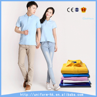 Latest Design Lovers' T Shirt Wholesale 100% Cotton Couple Polo Shirt