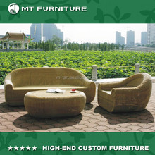 natural color wicker garden patio furniture outdoor sofa
