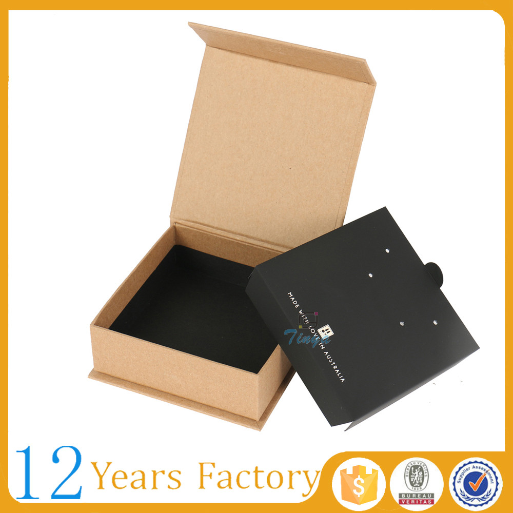 magnetic design kraft paper small decorative jewelry gift boxes