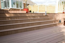Coffe color ribbed hollow/solid outdoor WPC skirting decking