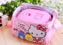 Stainless steel and plastic kids hello kitty lunch box